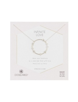Sterling Silver Infinite Love Large Star Halo Necklace by Dogeared
