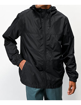 Zine Course Black Windbreaker Jacket by Zine