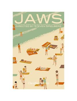 Movie Poster Jaws Retro Print In Various Sizes by Etsy