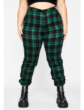 Pretty Dank Misconduct Plaid Joggers by Dolls Kill
