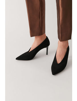 Pointed Suede Heels by Cos