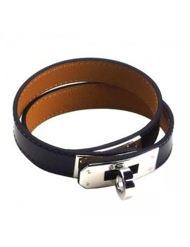 Hermes Hermes Kelly Leather Bracelet H068438 Ck Kelly Black Silver Metal Fittings by Rakuten Global Market