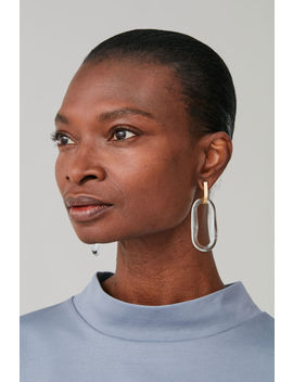 Glass Drop Hoop Earrings by Cos