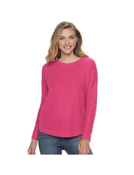 Juniors' So® Shirttail Hem Pullover Sweater by Juniors' So