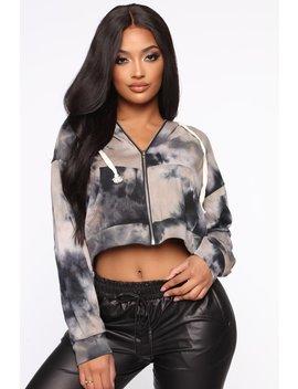 A Calming Influence Hooded Jacket   Black by Fashion Nova