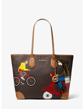 Eva Large Jet Set Girls Tote Bag by Michael Michael Kors