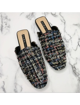 Zara Multicolored Mules Size 7 Preowned/Used by Zara