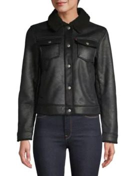 Faux Shearling Lined Trucker Jacket by Levi's