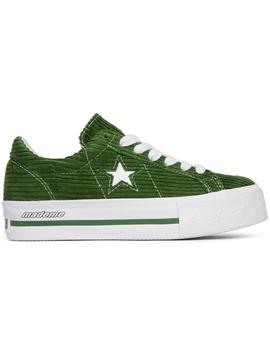 Converse One Star Platform Ox Made Me Garden Green (W) by Stock X