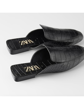 Brand New Zara Flat Mules In Stores Now Preowned/Used by Zara