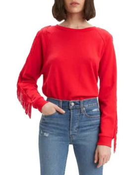 Reese Fringe Cotton Blend Sweatshirt by Levi's