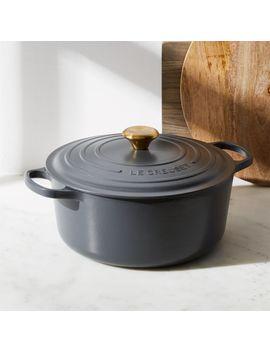Le Creuset ® Signature 7.25 Qt. Graphite Grey Round Dutch Oven by Crate&Barrel
