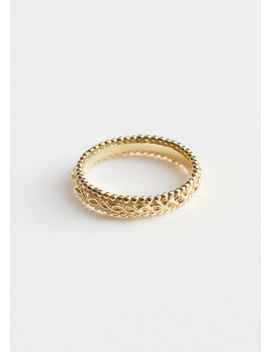 Embossed Bead Ring by & Other Stories