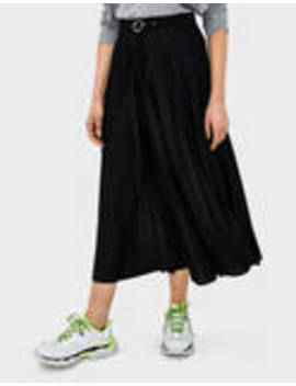 Pleated Skirt With Buckle by Bershka