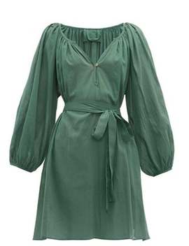 Balloon Sleeve Cotton Dress by Loup Charmant