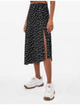 Polka Dot Midi Skirt by Bershka