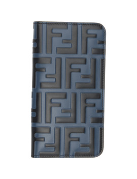 Blue & Black 'forever Fendi' I Phone X Case by Fendi