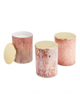 Art Deco Gold Filled Jar Candle Collection by World Market
