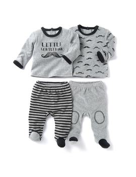 Pack Of 2 Velour 2 Piece Pyjamas, Birth 3 Years by La Redoute Collections