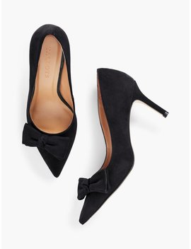 Erica Bow Pumps   Suede by Talbots