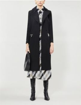 Anders Zip Detail Wool Blend Coat by Reiss
