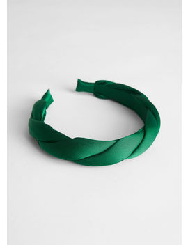 Braided Satin Alice Headband by & Other Stories