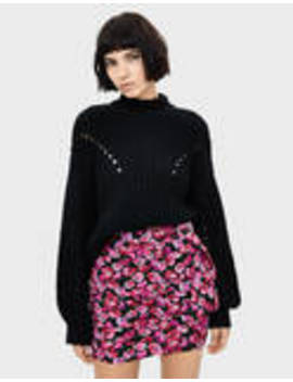 Floral Skirt With Belt by Bershka