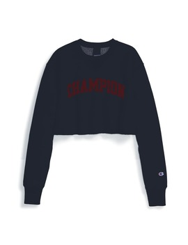 Vintage Wash Reverse Weave® Crop Sweatshirt by Champion