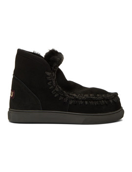 Black Mini Sneaker Boots by Mou