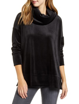 Velvet Cowl Neck Tunic Top by Loveappella