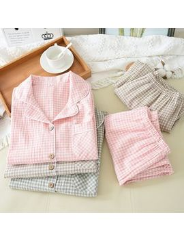 Somnus   Plaid Pajama Set by Somnus