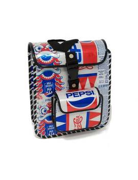 Pepsi Tin Can Backpack / Rucksack **Limited Edition Vintage Re Prints Design** by Etsy