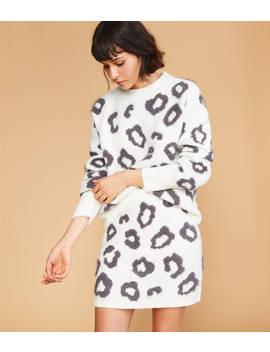 Leopard Sweater Skirt by Lou & Grey