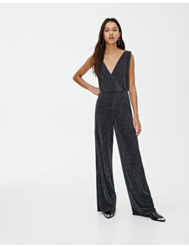 Shimmer Wrap Style Jumpsuit by Pull & Bear