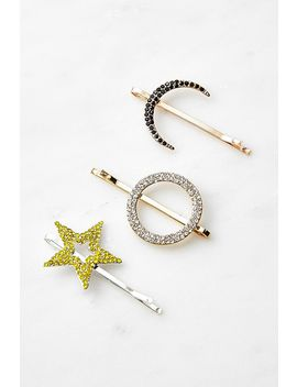 Celestial Rhinestone Hair Clip Set by Urban Outfitters