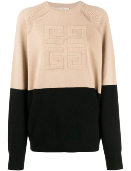 4 G Two Toned Knitted Jumper by Givenchy