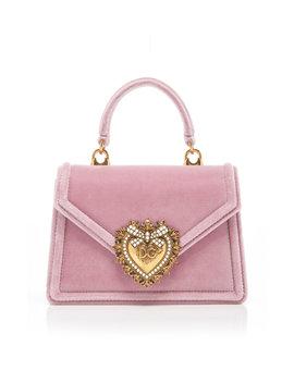 Borsaspalla Velvet Handbag by Dolce & Gabbana