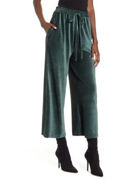 Ribbed Velvet Culottes by All In Favor