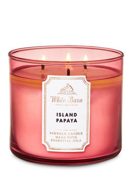 White Barn   Island Papaya   3 Wick Candle    by White Barn