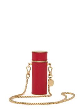 Logo Plaque Lipstick Case by Prada