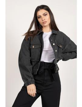 Don't Lie To Me Black Denim Jacket by Tobi