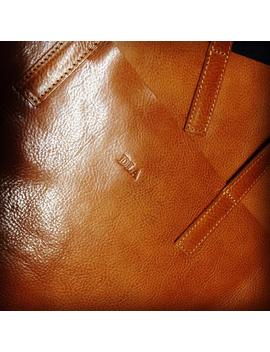 Add Monogram To Your Leather Bag   Personalize Your Purse   Initials   Monogram   Logotype by Etsy