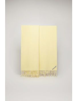Oversized Wool Scarf Pale Yellow by Acne Studios