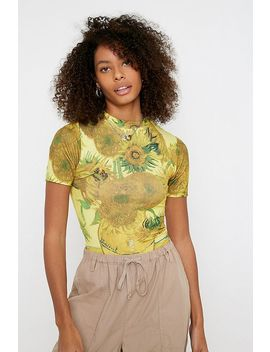 Uo Van Gogh Sunflowers Baby T Shirt by Urban Outfitters