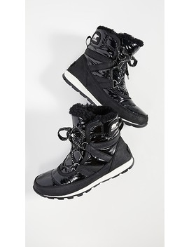 Whitney Short Lace Patent Boots by Sorel