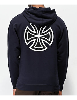 Independent Bar Cross Navy Hoodie by Independent