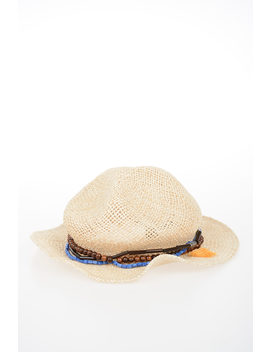 Jute Hat With Application by Dsquared2