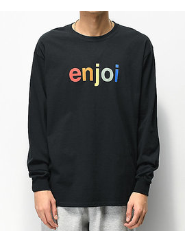 Enjoi Spectrum Logo Black Long Sleeve T Shirt by Enjoi