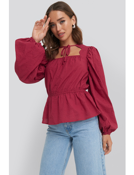 Scalloped Neckline Blouse Rot by Na Kd Boho