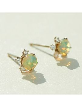 Sakura Stud Earrings,  Opal by Kataoka